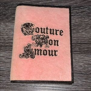 Juicy Couture velour passport holder
